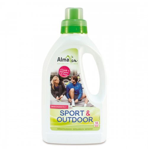 Detergent special Sport & Outdoor BIO concentrat AlmaWin, 750 ml, 16 spalari, fabricat in Germania