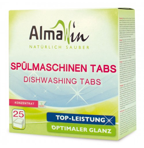 Tablete pentru masina de spalat vase concentrate BIO AlmaWin, 25 buc, 500 g