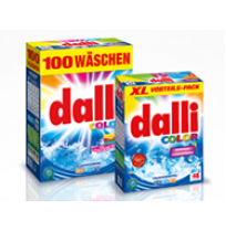 Detergent pudra color Dalli 6,5 kg, 100 spalari, fabricat in Germania